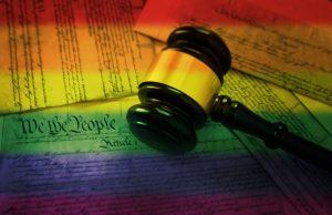 Rainbow flag gavel