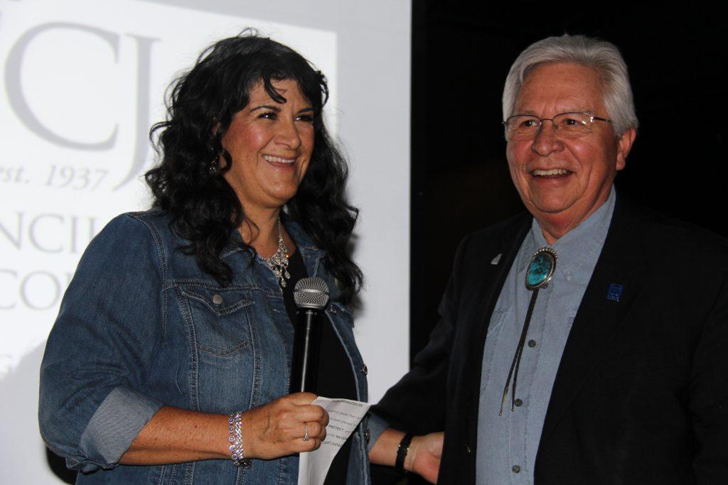 Hon. M. Monica Zamora, New Mexico Court of Appeals, swore in Hon. John J. Romero, Jr. as NCJFCJ's 2018-2019 President
