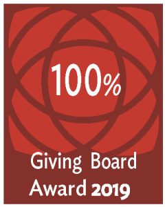 100% Giving Board Award 2019