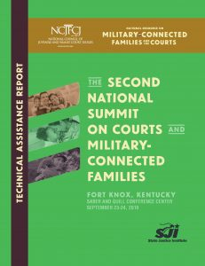 Report on the 2019 National Summit on Courts and Military-Connected Families.