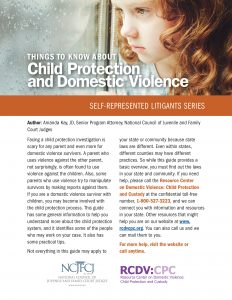 Things to Know About Child Protection and Domestic Violence