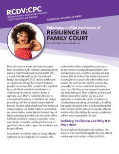 Resilience in Family Court