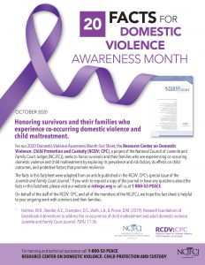 20 Facts for Domestic Violence Awareness Month 2020
