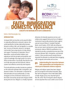 Faith, Immigration, and Domestic Violence: Concepts for Working with Faith Communities