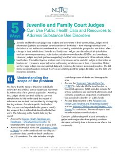 5 Ways Juvenile and Family Court Judges Can Use Public Health Data and Resources to Address Substance Use Disorders
