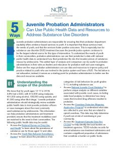 5 Ways Juvenile Probation Administrators Can Use Public Health Data and Resources to Address Substance Use Disorders