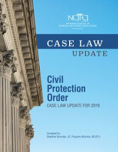 Civil Protection Order: Case Law Update for 2019